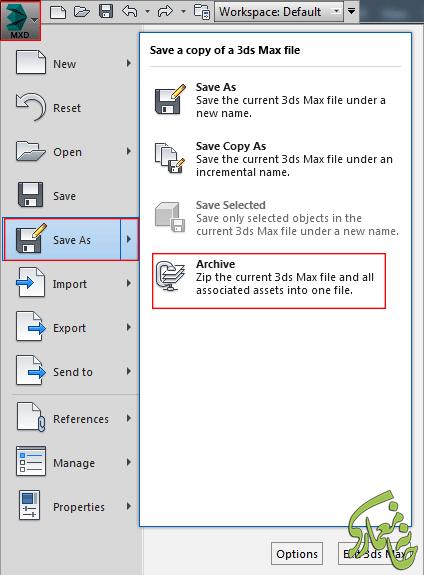 نمایش متریال فایل ۳Dmax